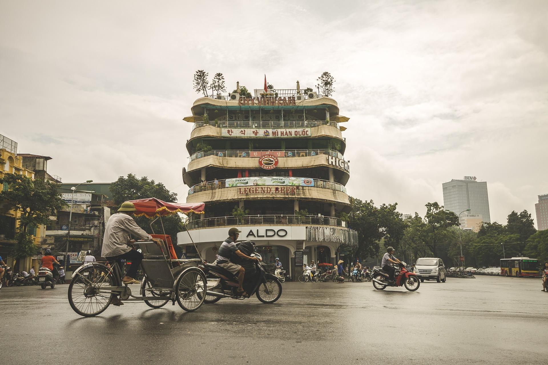 ulica w Hanoi Wietnam